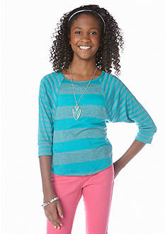 Amy Byer Stripe Necklace Top Girls 7-16