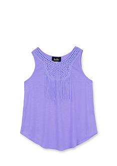Amy Byer Crochet Fringe Tank Top Girls 7-16