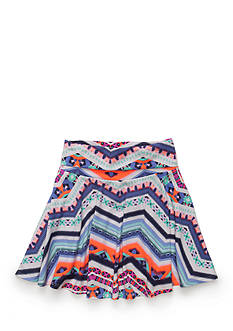 Amy Byer Printed Skater Skirt Girls 7-16