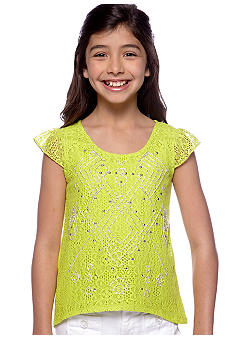 Amy Byer Studded Solid Shirt Girls 7-16
