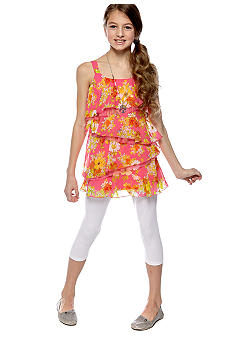 Amy Byer Floral Tier Legging Set Girls 7-16