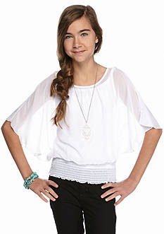 Amy Byer Angel Sleeve Blouse Girls 7-16