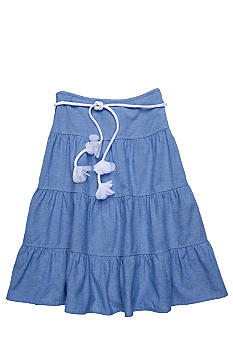 Amy Byer Tier Chambray Skirt Girls Size 7-16