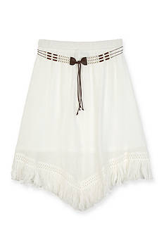 Amy Byer Gauze Fringe Skirt Girls 7-16