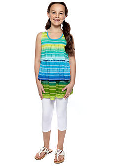 Amy Byer Stripe Tunic & Legging Set Girls 7-16