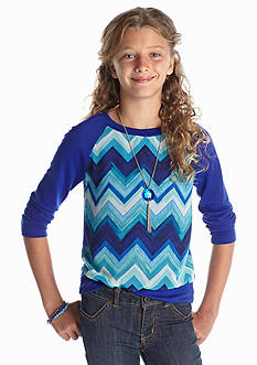 Amy Byer Chevron Chiffon Sweatshirt Girls 7-16