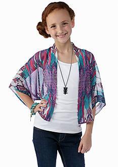 Amy Byer Chiffon Cardigan Top Girls 7-16