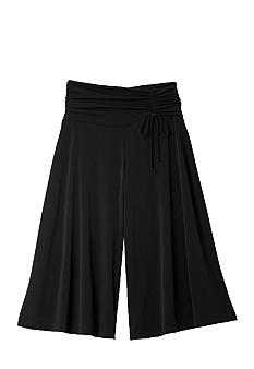 Amy Byer Knit Gaucho with Ruched Waist Tie - Girls 7-16