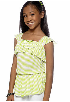 Amy Byer Tiered Stripe Peplum Tank Girls 7-16