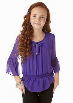 Amy Byer Chiffon Bell Sleeve Top Girls 7-16