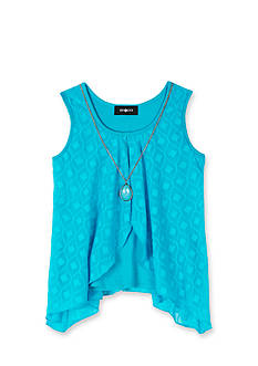 Amy Byer Burnout Chiffon Flyaway Necklace Tank Girls 7-16