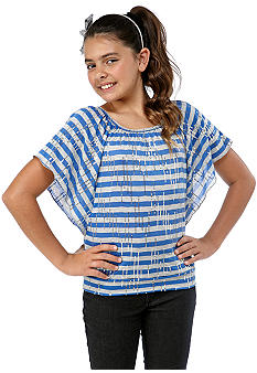 Amy Byer Stripe Sequin Dolman Top Girls 7-16