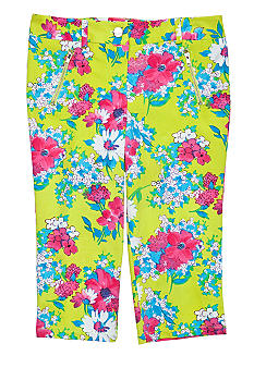 Amy Byer Floral Crop Pant Girls 7-16