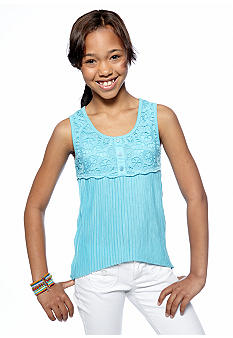 Amy Byer Pleat Tank Top Girls 7-16
