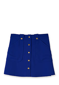 Amy Byer Solid Crepe Snap Front Pocket Skirt Girls 7-16