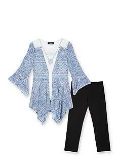 Amy Byer 2 Piece Tribal Tunic and Legging Set Girls 7-16