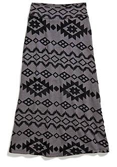 Amy Byer Tribal Print Maxi Skirt Girls 7-16