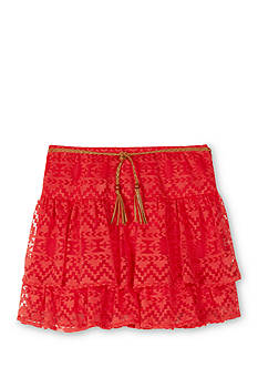 Amy Byer Burnout Tier Skirt Girls 7-16