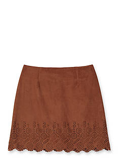 Amy Byer Suede Lazer Cut Skirt Girls 7-16