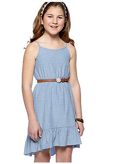 Amy Byer Chambray Hi Low Dress Girls 7-16