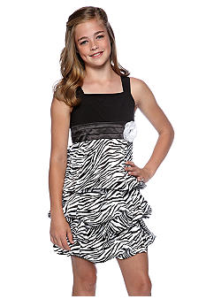 Amy Byer Zebra Dress Girls 7-16