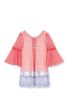 Amy Byer Printed Bell Sleeve Dress Girls 7-16