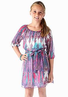 Amy Byer Printed Chiffon Dress Girls 7-16