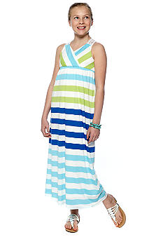 Amy Byer Stripe Maxi Dress Girls 7-16