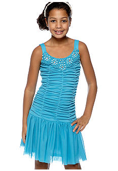 Amy Byer Beaded Neck Dress Girls 7-16