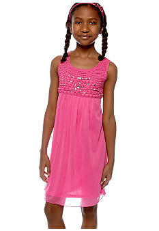 Amy Byer U-Neck Empire Waist Dress Girls 7-16
