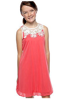 Amy Byer Floral U-Neck Bubble Dress Girls 7-16