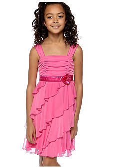 Amy Byer Ruffle Bodice and Tier Dress Girls 7-16