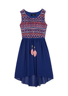 Amy Byer Printed Lace High Low Dress Girls 7-16