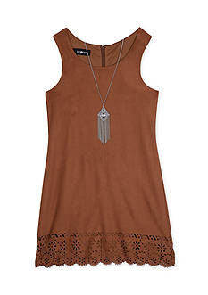 Amy Byer Suede Lazer Cut Sheath Dress Girls 7-16