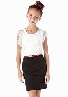 Amy Byer Lace Bodycon Dress Girls 7-16