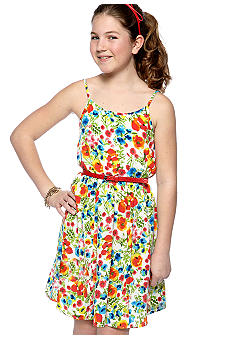 Amy Byer Floral Belted Dress Girls 7-16