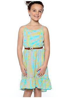 Amy Byer Dot Hi Low Dress Girls 7-16