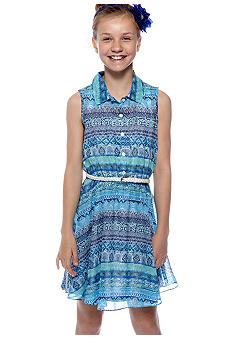 Amy Byer Belted Shirt Dress Girls 7-16
