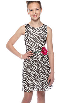 Amy Byer Zebra Print Dress Girls 7-16