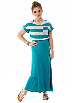 Amy Byer Striped Maxi Dress Girls 7-16