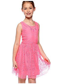 Amy Byer Lace Necklace Dress Girls 7-16