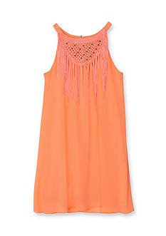 Amy Byer Fringe Neckline Dress Girls 7-16