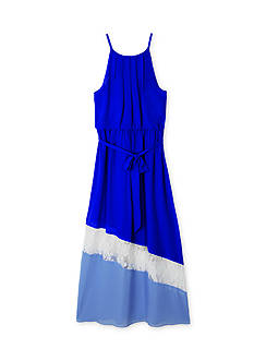 Amy Byer Colorblock Lace Maxi Dress Girls 7-16