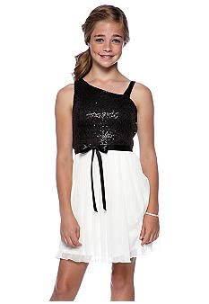 Amy Byer One Shoulder Dress Girls 7-16