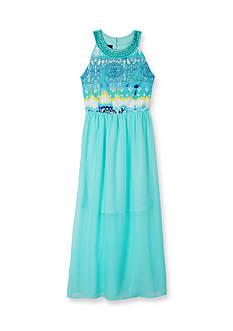 Amy Byer Jewel Neck Textured Maxi Dress Girls 7-16
