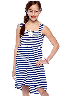Amy Byer Stripe Hi Lo Dress Girls 7-16