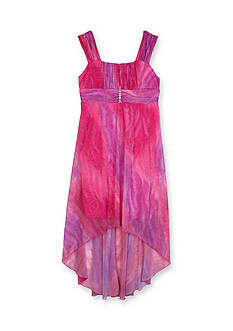 Amy Byer Glitter Ombre High Low Dress Girls 7-16
