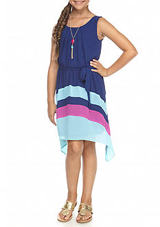 Amy Byer Sharkbite Hem Colorblock Dress Girls 7-16