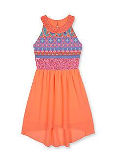 Amy Byer Printed Chiffon High Low Dress Girls 7-16