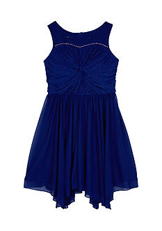 Amy Byer Girls 7-16 Glitter Twist Illusion Dress